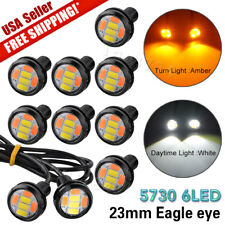 10X 23MM 5730 LED Eagle Eye Light Dual Color White&Amber Switchback DRL Lamp US