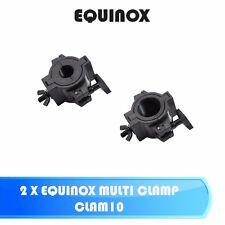 2 X RHINO EQUINOX MULTI CLAMP CLAM10 LED DJ DISCO LIGHTING QUICK CLAMP BRACKET