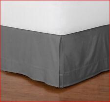 """Home Classic Box Pleat Bedskirt  15"""" Drop dust skirt box pleat GRAY TWIN 🌟NEW🌟"""
