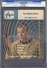 STAR TREK KIRK COVER - TV TIMES #40 CGC NM 9.4 - SINGLE HIGHEST CGC GRADE! 1966