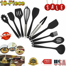 New Kitchen Utensil Set 10-Piece Silicone Non Stick Cooking Bakeware Cookware US