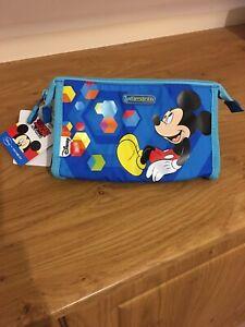 Mickey Mouse Toiletry Wash Make Up Bag DISNEY SAMSONITE  Blue New