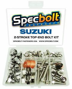 Suzuki RM250 Top End Engine Bolt Kit RM 250 (Nickel)