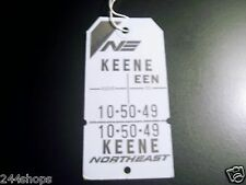 VINTAGE NORTHEAST AIRLINES BAG TAGS - EEN - KEENE
