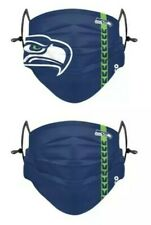 Seattle Seahawks Officially Licensed 2 Pack Adult Face Mask - Qty Discounts!