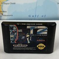SHIPS SAME DAY T2: The Arcade Game (Sega Genesis, 1992) Terminator 2 Tested