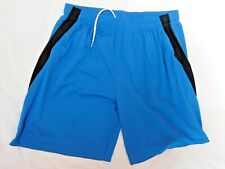 Reebok Blue with Black Polyester Gym Shorts Men's 2XL