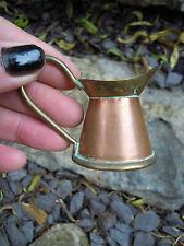 Miniature Vintage Copper and Brass Jug  Pot Dolls House kitchen
