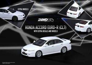 1:64 Honda Accord Euro-R CL7 -- Premium White Pearl  -- INNO64