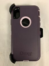 Otterbox Defender Series Case & Holster/ Belt Clip for iPhone Xs / X - Purple