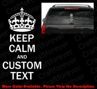 Keep Calm and Carry On Free Name Custom Text Die Cut Car//Phone Vinyl Decal FT007