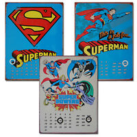 DC Comics Perpetual Calendars. METAL Super Hero Cool Wall Decor