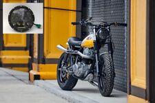 "Motorbike 7"" LED Headlights 75W Black FLY EYE Lens & DRL 2 Year UK Warranty 775"