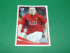N°326 W. ROONEY MANCHESTER UTD MERLIN PREMIER LEAGUE FOOTBALL 2007-2008 PANINI
