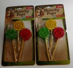 2/Pack - Bow Wow Pals Munchy Pops Dog Treats, 6 Pops