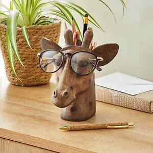New Giraffe Head Pot and Glasses Holder Addition To Any Bedside or Living Space.