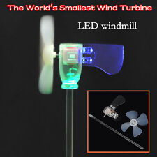 Mini Wind Turbine LED Lighting Windmill Small Motor Teaching Tools Windgenerator