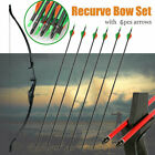 30lbs Archery Recurve Bow Set Takedown Longbow Arrows Outdoor Hunting Shooting