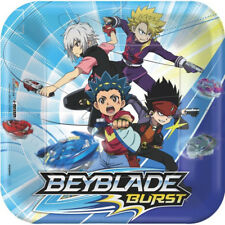 BEYBLADE Lunch Plates (8ct.) Boys Birthday Party Supplies Bey Blade Tableware