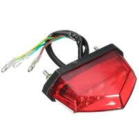 11 LED Rouge 12V Feux Arrière Freinage Éclairage Plaque d'immatriculation Moto