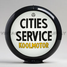 "Cities Service Koolmotor 13.5"" Gas Pump Globe w/ Black Plastic Body (G115)"