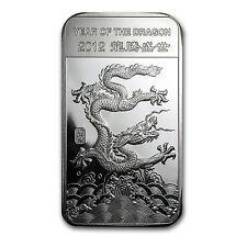 5 oz APMEX 2012 Year of the Dragon Silver Bar - SKU #65008