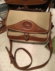 Dooney Bourke Vintage Carrier All Weather Leather Shoulder Bag Bone British Tan