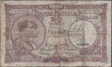 Belgium  20 Francs  24.09.1941  P 111 Series D  Circulated  Banknote