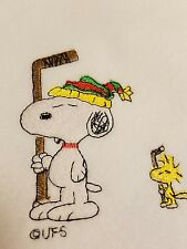 Personalized Embroidery Baby Blanket Snoopy & Woodstock Hockey