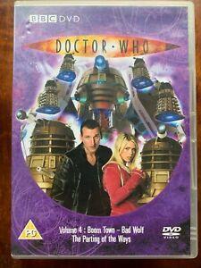 Doctor Who Volume 4 DVD 2005 Christopher Eccleston BBC Sci-Fi Series