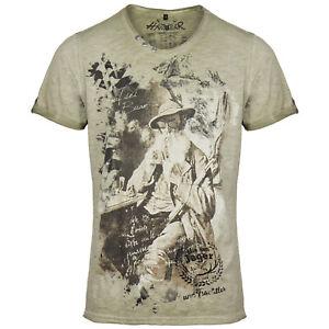hangOwear Herren Trachten T-Shirt Shirt Oktoberfest Alpen Seppel Used Waschung