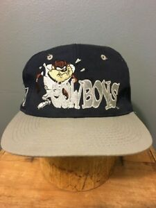 Vtg 1990s 90s Dallas Cowboys Taz SnapBack Trucker Hat Youth One Sz NFL Ball Cap