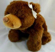 "Gund Dark Brown Grizzly Teddy Bear Floppy Laying Down 15"""