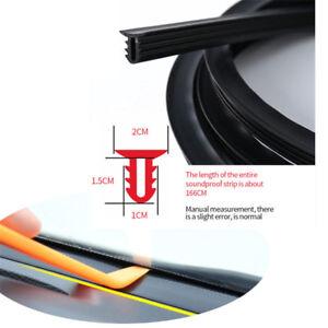 Car 1.6M Windshield Deadening Seal Strip Dashboard Sound Proofing Black  U Type