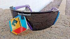 New Black Diamond Unisex Mirrored Sport Cycling Running Golfing Wrap Sunglasses