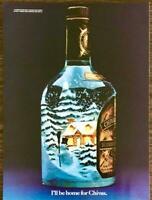 1981 Chivas Regal Scotch Whiskey Christmas PRINT AD I'll Be Home for Chivas