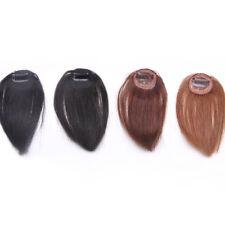 Natural Straight Hair Extension Clip In Front Hair Bangs Fringe Real Human Hair