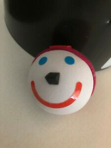 Jack In The Box Red Beanie Knit Cap Antenna Ball JACK Fast Food Collectible