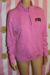 PINK Victoria's Secret XS Purple half zip long sleeve sweater pullover