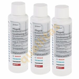 3 x BOSCH Stainless Steel Kitchen Oven Cooker Appliance Conditioning Oil 300ml
