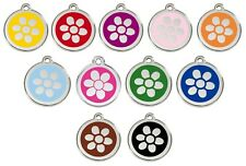 RED DINGO FLOWER Engraved Dog / Cat ID identity Tags / discs. ALL COLOURS (1FW)