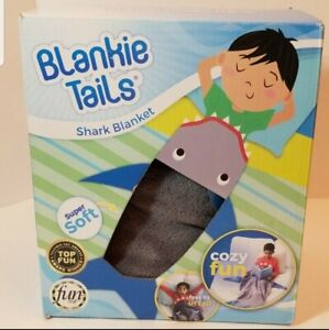 Blankie Tails Kids Shark Blanket Baby Shark Doo Doo Slip Inside Cozy Soft. NEW!
