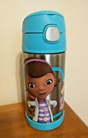 Disney Doc McStuffins Thermos Funtainer Straw Bottle 12 oz. Stainless Steel