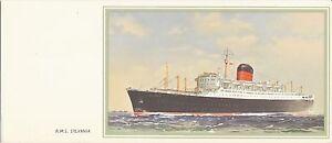 Cunard R.M.S. SYLVANIA Portrait Note Card - Unused & MINT - I SHIP WORLDWIDE