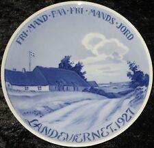 1927 ROYAL COPENHAGEN GEDENKTELLER / COMMEMORATIVE PLATE #248 Bing Grondahl