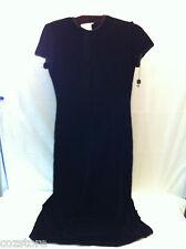 Tahari Short sleeve Full Length Maxi Dress Black Velvet  Silk Women's Size 4