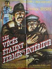 LES VECES ETAIENT FERMES DE L'INTERIEUR Affiche Cinéma / Movie Poster COLUCHE