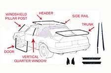 1983 & 1984 FORD MUSTANG WEATHERSTRIPPING 16 PIECE KIT CONVERTIBLE
