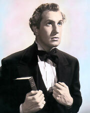 """VINCENT PRICE BRIGHAM YOUNG 1940 HOLLYWOOD ACTOR 8x10"""" HAND COLOR TINTED PHOTO"""