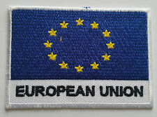 NATIONAL OLYMPIC COUNTRY FLAG (SMALL) SEW ON / IRON ON PATCH:- EUROPEAN UNION